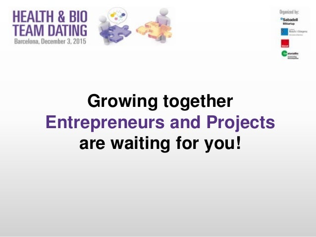 Growing together Entrepreneurs and Projects are waiting for you!