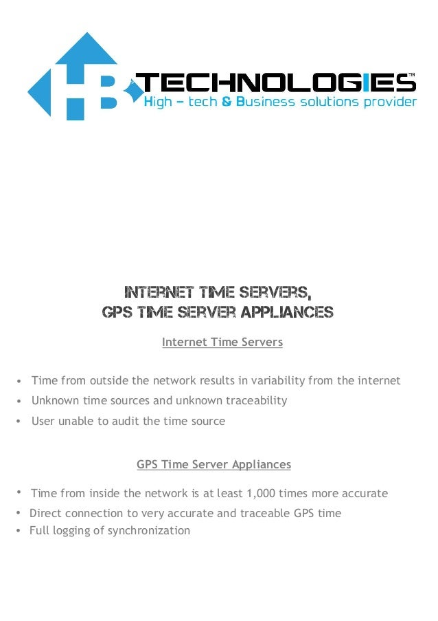 Time synchronization solution: NTP