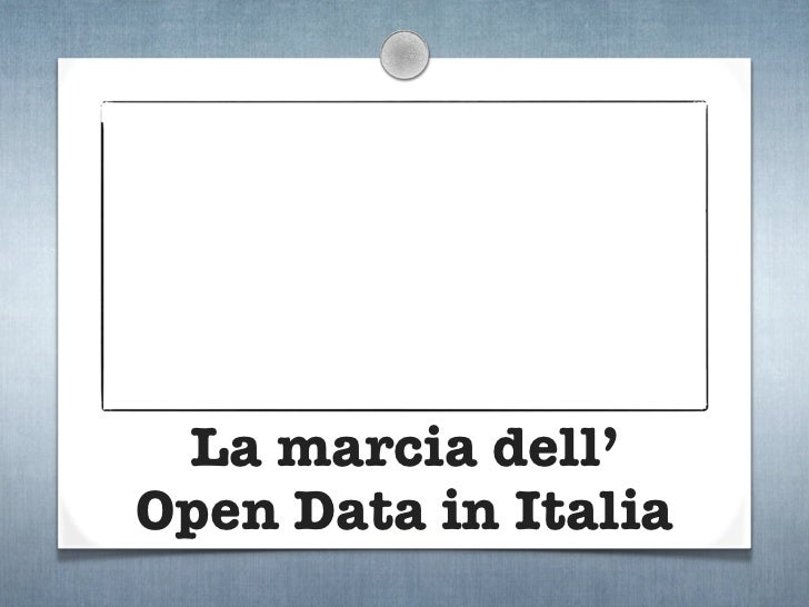 La marcia dell'Open Data in Italia