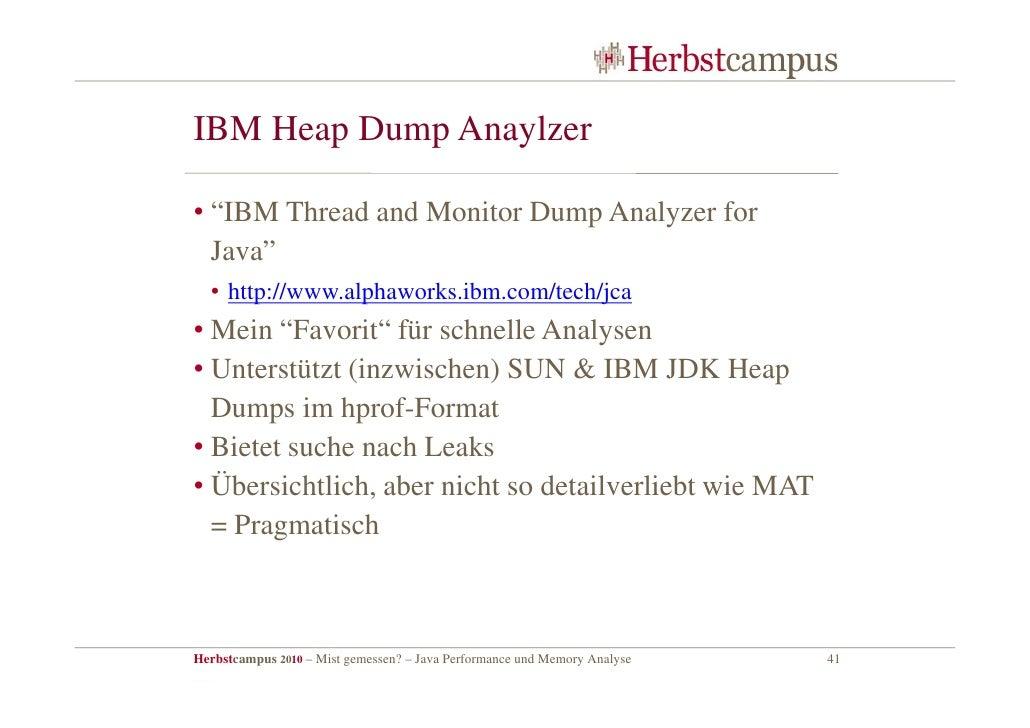Mist Gemessen Java Performance Und Memory Analyse