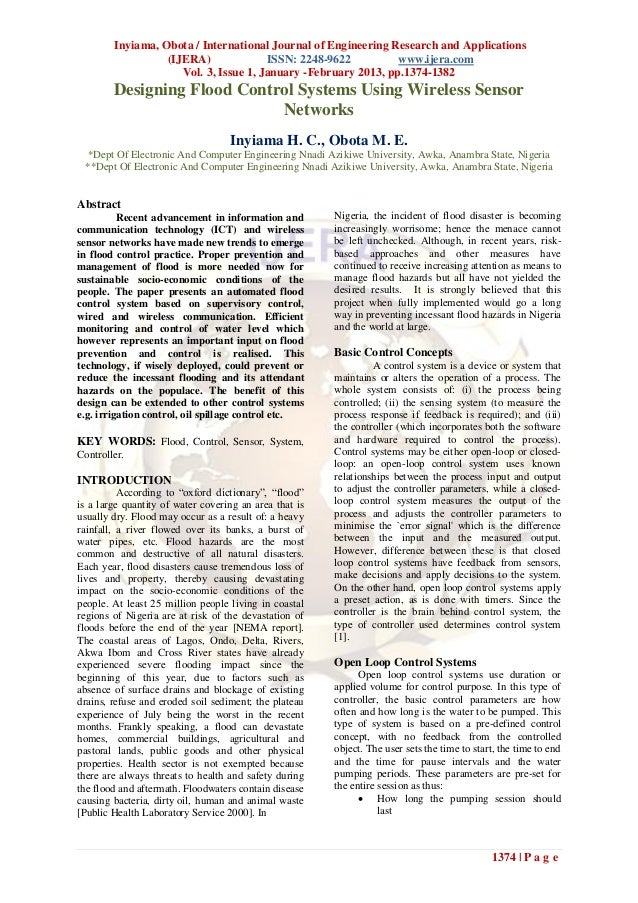 Inyiama, Obota / International Journal of Engineering Research and Applications                  (IJERA)              ISSN...