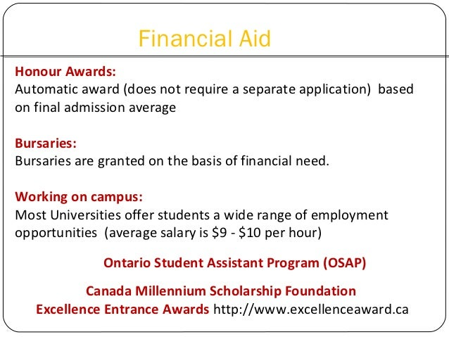 what information does a canadian university application need