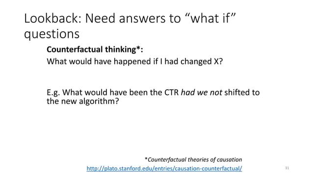 Randomizing algorithm assignment: A/B test 34
