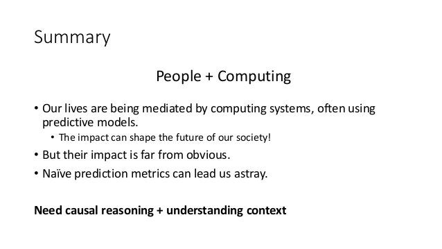 The Impact of Computing Systems   Causal inference in practice