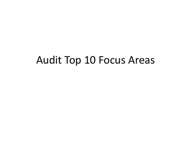 Audit Top 10 Focus Areas