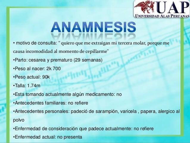 •Grupo sanguineo: A+•Presion arterial•Sistolica: 125 mm/Hg•Diastolica: 75mm/Hg•Pulso: 72 p/m•Respiración: 20 r/m