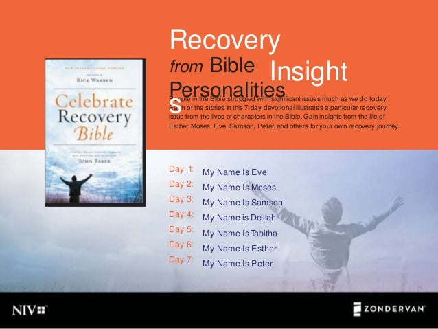 Recovery Insights from Bible Personalities  Slide 2