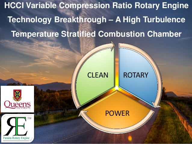 HCCI Variable Compression Ratio Rotary Engine Technology Breakthrough – A High Turbulence Temperature Stratified Combustio...