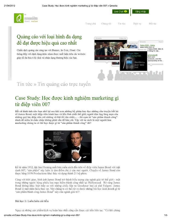 Học được kinh nghiệm marketing gì từ điệp viên 007 » qmedia