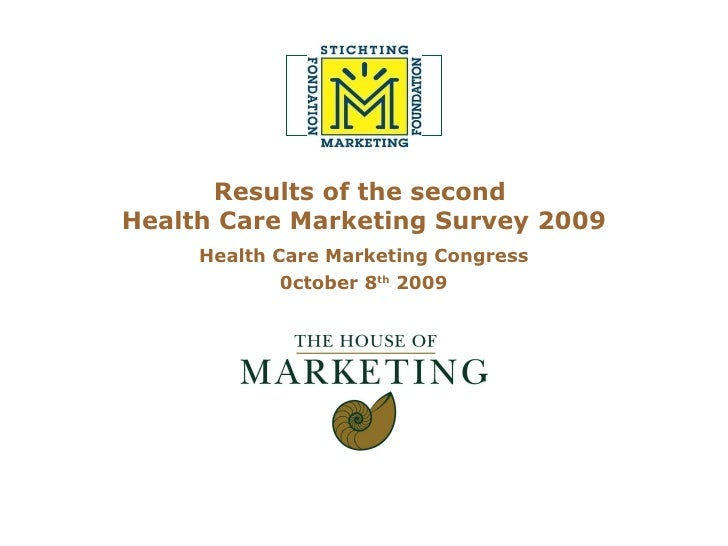 Results of the second  Health Care Marketing Survey 2009 Health Care Marketing Congress 0ctober 8 th  2009