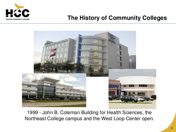 the history of community colleges History is the story of humanity it is the examination of the written record of major  social, political, cultural, and economic events of the past the study of history.