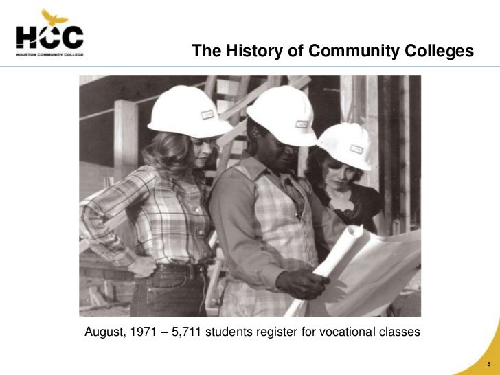 the history of community colleges Vision statement norwalk community college aspires to create a culture of inclusion and excellence through intellectual inquiry, open dialogue, multicultural .