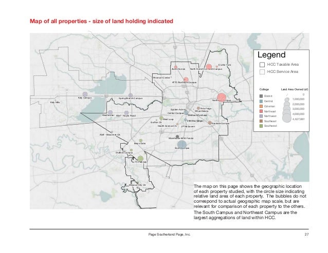 Houston Community College Strategic Real Estate Study Houston Texas