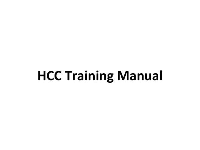 HCC Training Manual