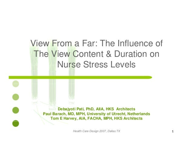 View From a Far: The Influence ofe o a a e ue ce o The View Content & Duration on Nurse Stress LevelsNurse Stress Levels D...