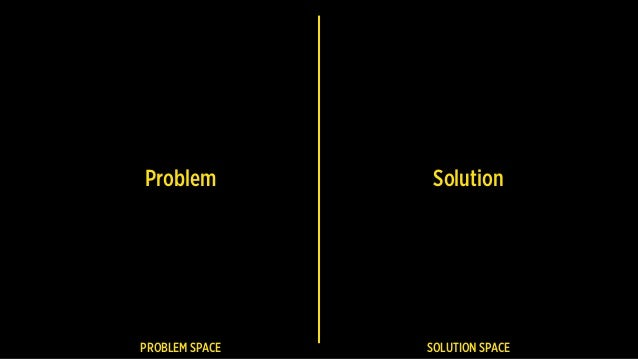 Problem Solution PROBLEM SPACE SOLUTION SPACE