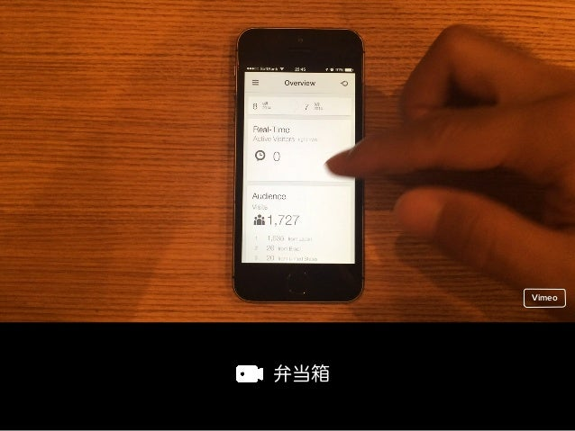 フィルタビュー型 Vimeo