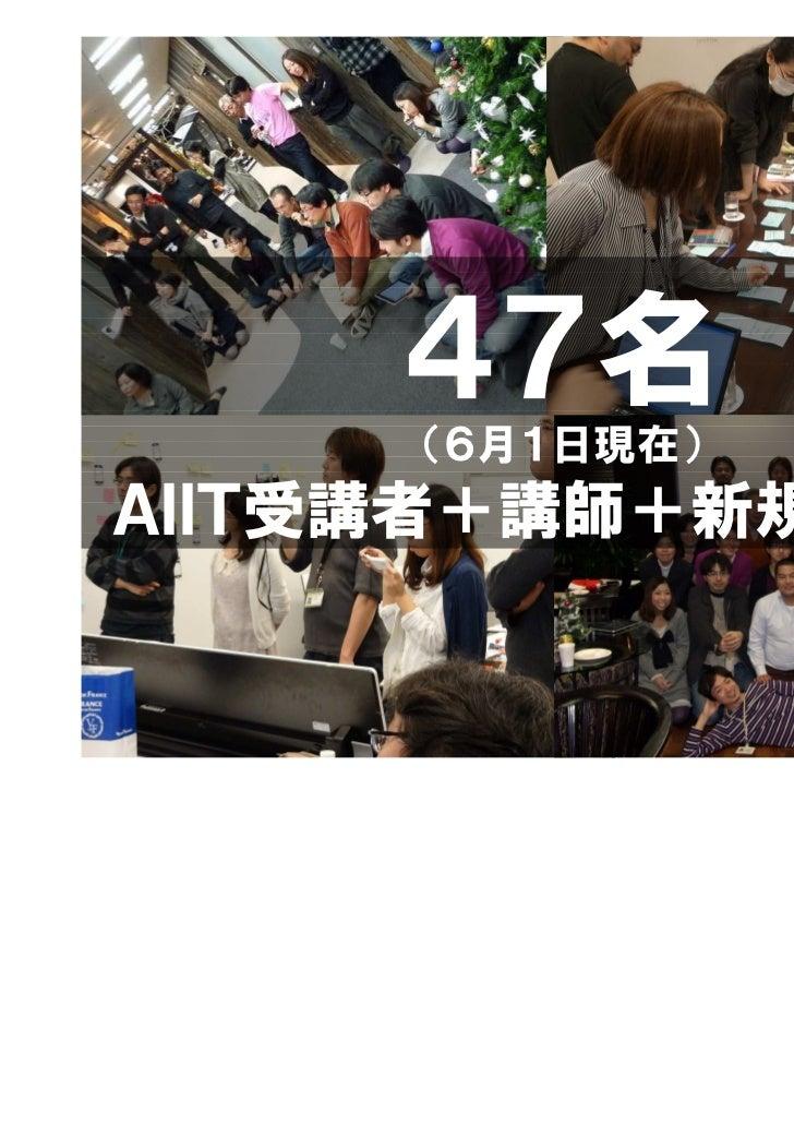 47名     (6月1日現在)AIIT受講者+講師+新規(歓迎)