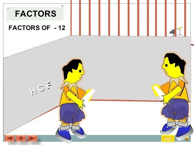 FACTORS FACTORS OF - 12  CF H