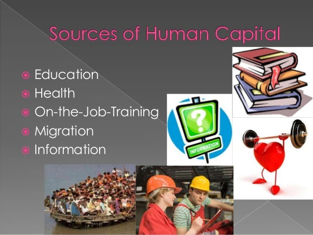sources of human capital investment