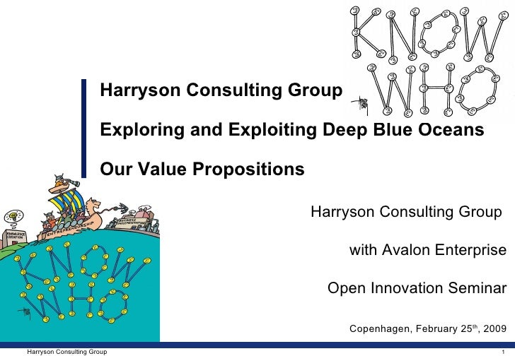 Harryson Consulting Group  with Avalon Enterprise Open Innovation Seminar Copenhagen, February 25 th , 2009 Harryson Consu...