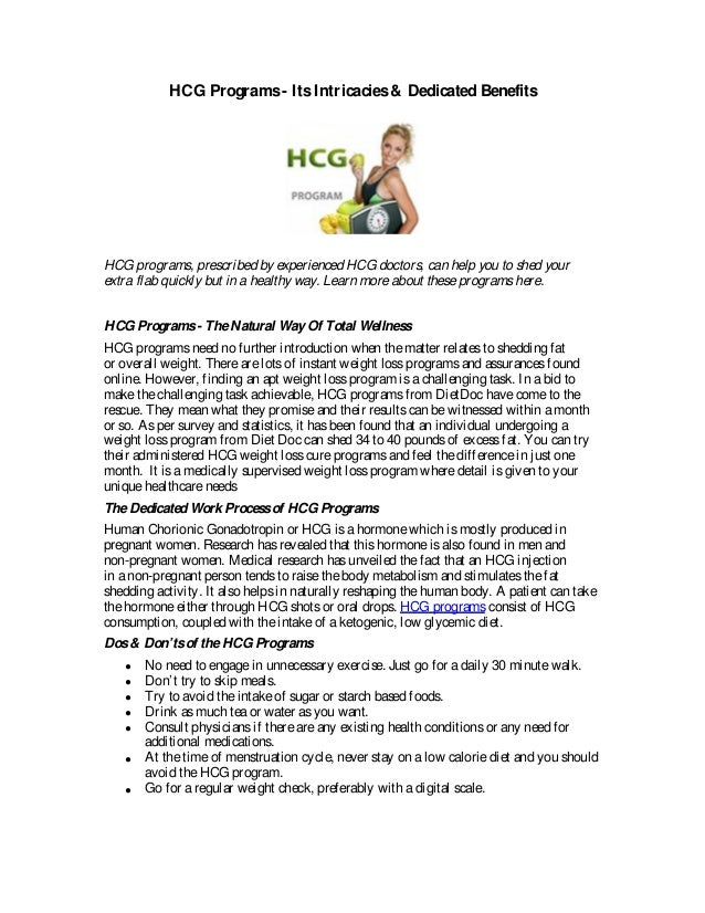 HCG Programs- ItsIntricacies& Dedicated Benefits HCG programs, prescribed by experienced HCG doctors, can help you to shed...
