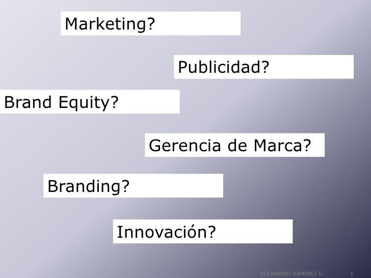 Marketing?                     Publicidad?  Brand Equity?                  Gerencia de Marca?      Branding?              ...
