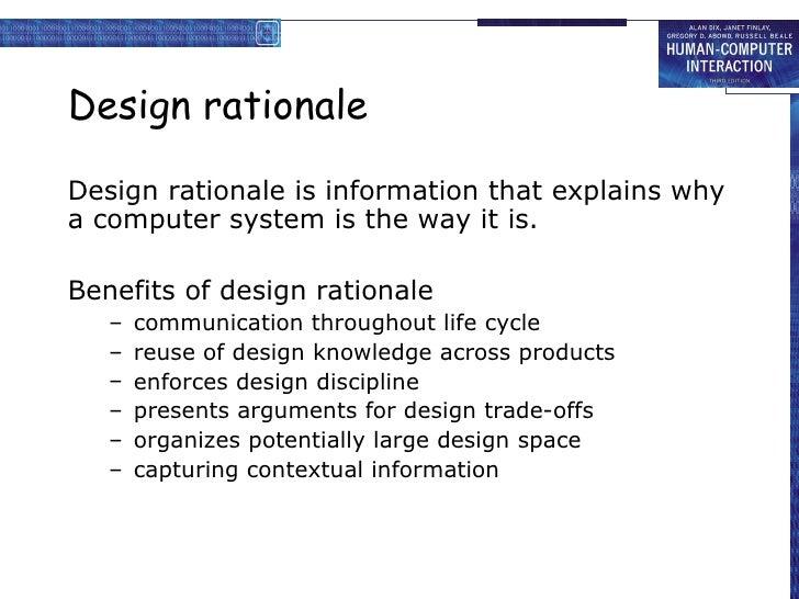 creative design rationale
