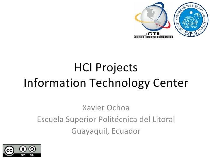 Human Computer Interaction at CTI