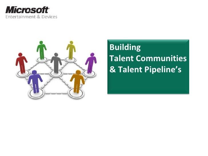 Building  Talent Communities & Talent Pipeline's