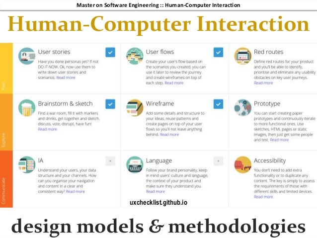Hci 2018 3 10 Design Models Methodologies And Guidelines