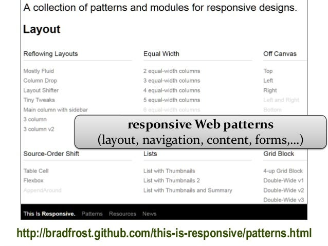 Information Architecture Design Patterns Image Gallery Hcpr