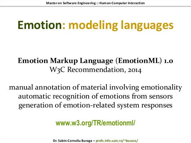 HCI 2018 (9/10) Affective Factors  From Emotion to