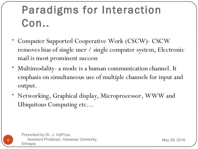 Human Computer Interaction Chapter 2 Interaction and Interaction Des…