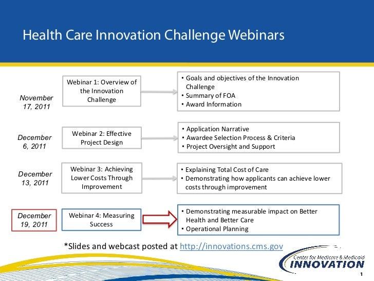Healthcare Innovation Challenge Webinar #4 Slide 2