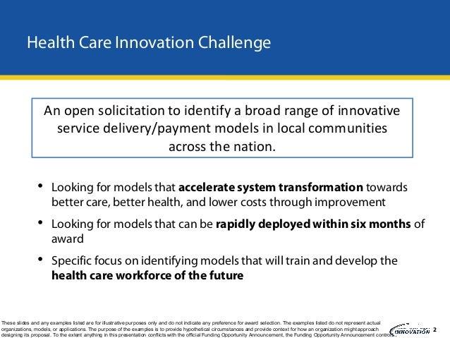 Health Care Innovation Challenge Webinar #3 December 13, 2011 Slide 3