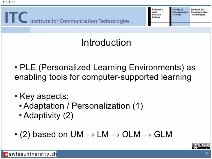 Supporting Learners in Adaptive Learning Environments through the enhancement of the Student Model Slide 3