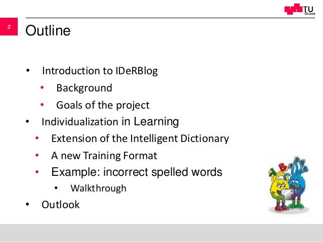 Learning Analytics and Spelling Acquisition in German - the Path to Indivdualization in Learning Slide 2
