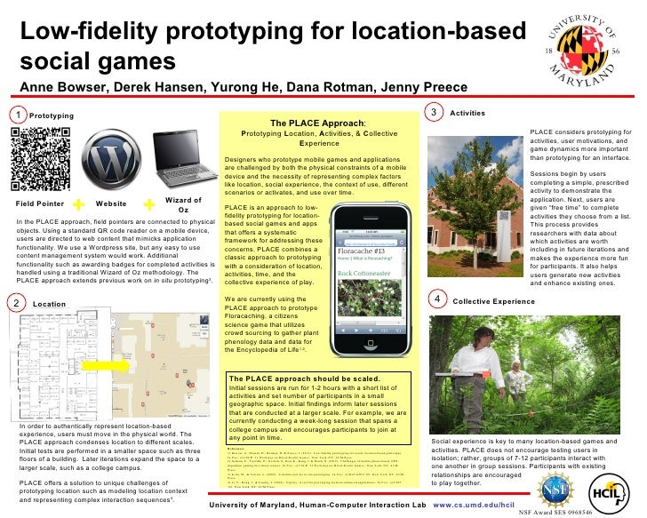 Low-fidelity prototyping for location-based    social games    Anne Bowser, Derek Hansen, Yurong He, Dana Rotman, Jenny Pr...