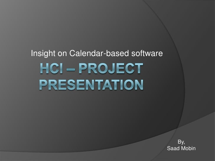 Insight on Calendar-based software                                             By,                                      Sa...