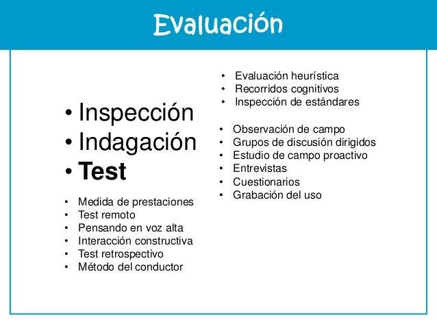 Evaluación Experiencia
