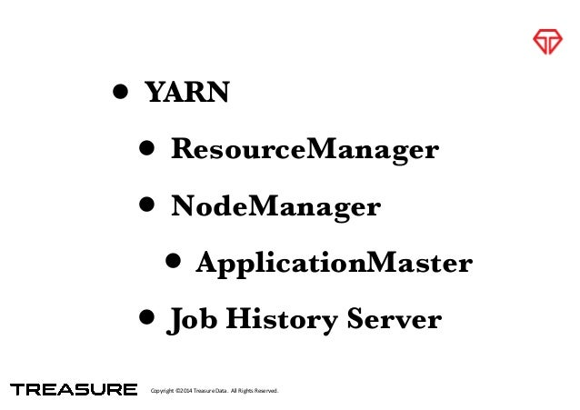 Copyright*©2014*Treasure*Data.**All*Rights*Reserved. • YARN • ResourceManager • NodeManager • ApplicationMaster • Job Hist...