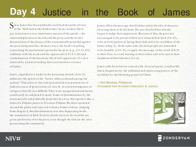 """Since James has been primarily read from the point of view of the """"faith and works dichotomy,""""many readers fail to pay att..."""