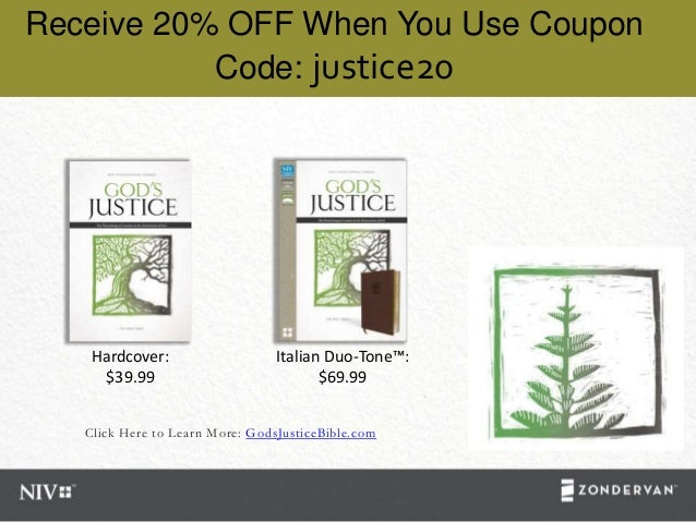 Click Here to Learn More: GodsJusticeBible.com Receive 20% OFF When You Use Coupon Code: justice20 Hardcover: $39.99 Itali...