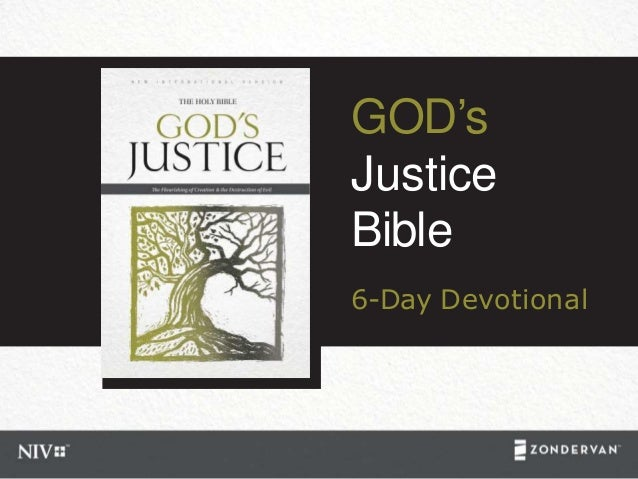 GOD's Justice Bible 6-Day Devotional