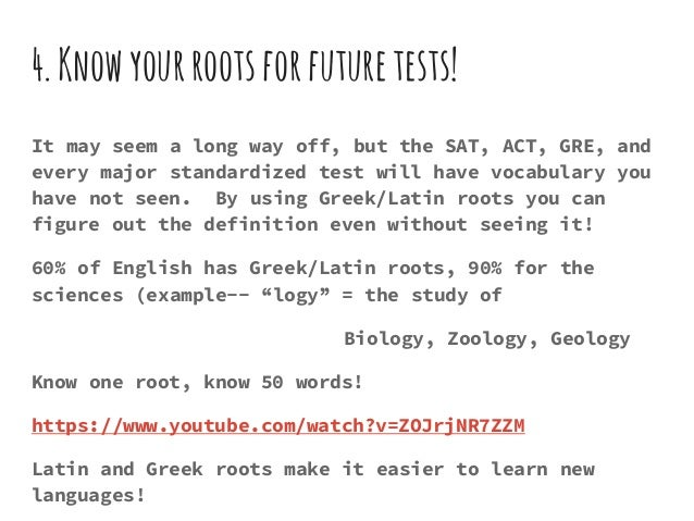 Greek roots intro – Greek and Latin Root Words Worksheet