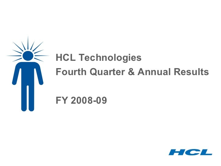 HCL Technologies Fourth Quarter & Annual Results FY 2008-09