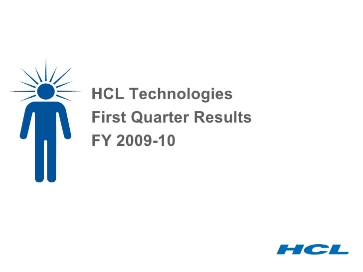 HCL Technologies First Quarter Results  FY 2009-10