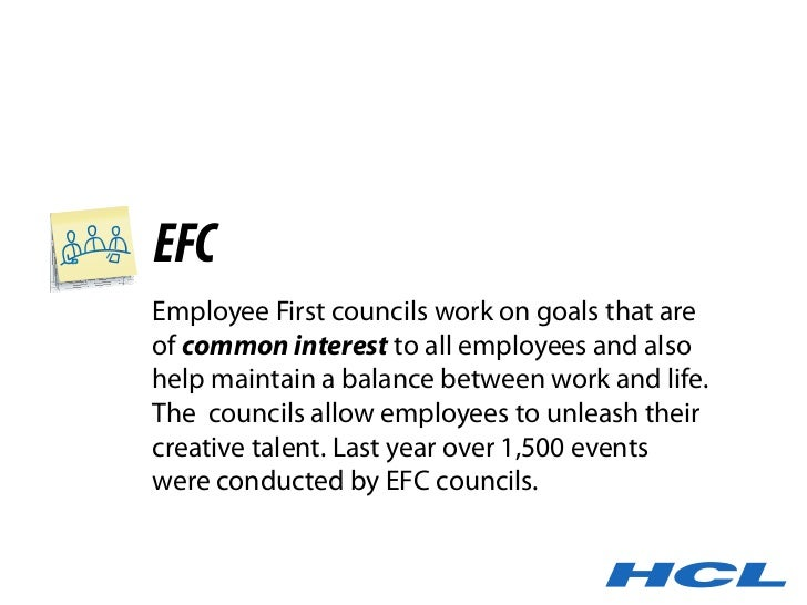 EFC Employee First councils work on goals that are of common interest to all employees and also help maintain a balance be...