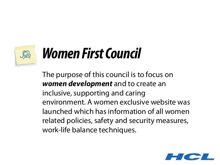 Women First Council The purpose of this council is to focus on women development and to create an inclusive, supporting an...